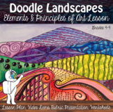 Art Lesson - Doodle Landscape - Elements of Art Project