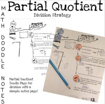 Doodle Math Notes:Partial Quotient Division