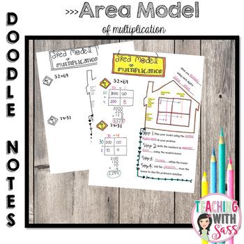 Doodle Math Notes:Standard Algorithm of Multiplication: Ar