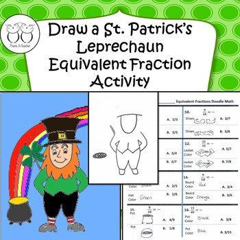 Doodle Math : St. Patrick's Day Equivalent Fractions