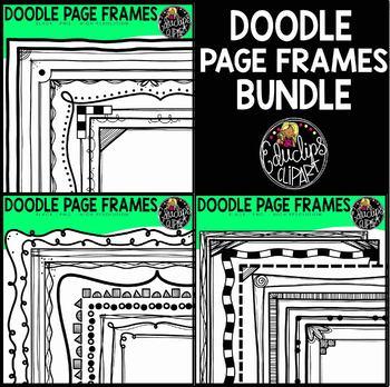 Doodle Page Frames Clip Art Bundle