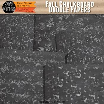 Doodle Paper: Fall Chalkboard