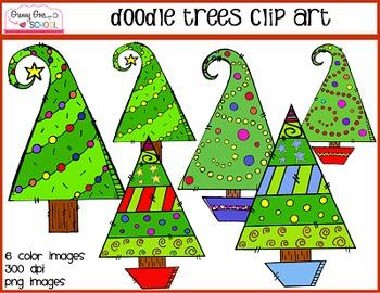 Doodle Trees: Freebie