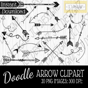Doodle arrow clipart, doodle arrows, arrow clipart, 300 dp