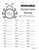 Doodlebug Number Sense Spinning Worksheets -- Leveled Math