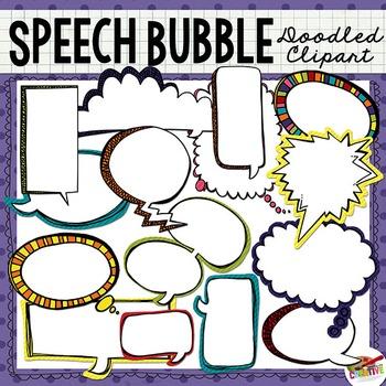 Doodled Speech Bubble Clip Art