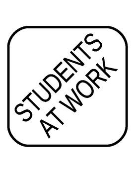 Door Decoration: Students at Work