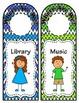 Door Hangers: Kids and Chevron - 10 Hangers in 2 Styles: C