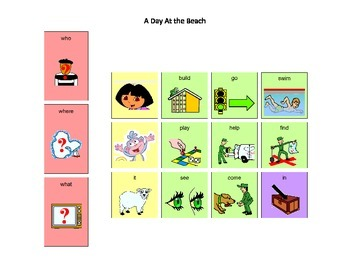 Dora the Explorer A Day At the Beach Core Word Manual Boar