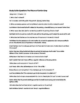 Dorian Gray study questions