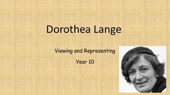 Dorothea Lange Depression Task/Activity