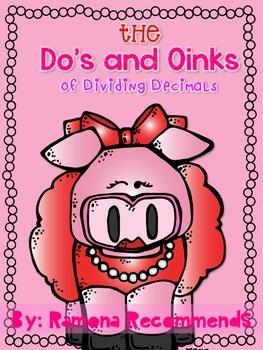Do's and Oinks of Dividing Decimals 5th Grade