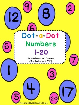 Dot-a-Dot Numbers 1-20