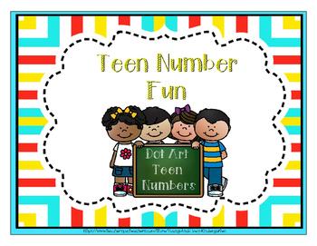 Dot Art Teen Numbers