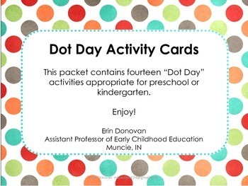 Dot Day Activity Cards