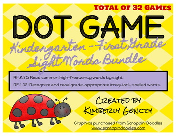 Dot Games Bundle with K-1 Sight Words