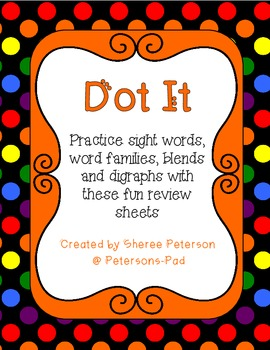Dot It- Reading Practice Sheets