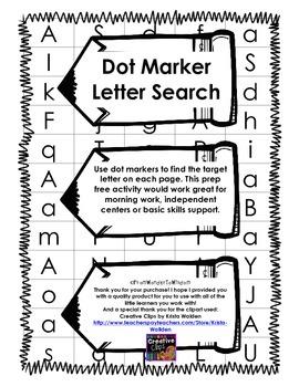 Dot Marker Letter Search