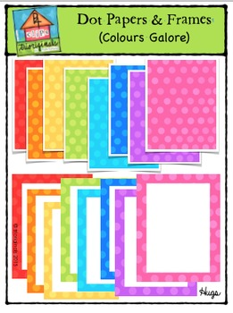 Dot Papers & Frames Colours Galore {P4 Clips Trioriginals}