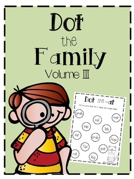Dot the Family Volume 3: Word Families