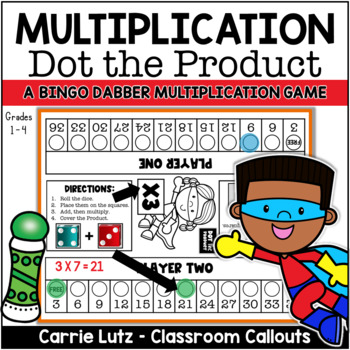 Multiplication Game ~ Dot the Product {A Fun Way to Learn