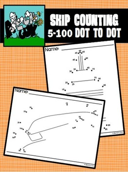 Dot to Dot / Connect the Dots 5's / 5 - 100 - SKIP COUNTING