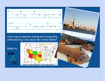 Dots Around the Country - Fifty States - Tracing Practice