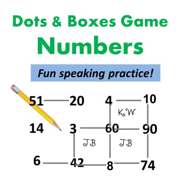 Dots and Boxes Games - Numbers - Speaking Activity