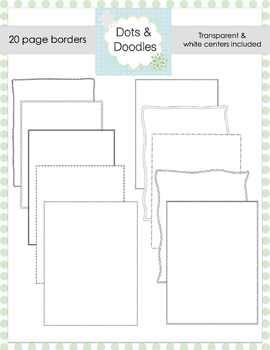 Dots and Doodles Borders