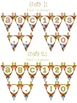 Pennant Banners - Multi-Colored Polka Dots on Chocolate Theme