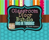 Dots on Turquoise Classroom Decor MEGA Pack