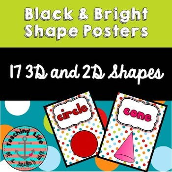 Dots on Turquoise Shape Posters