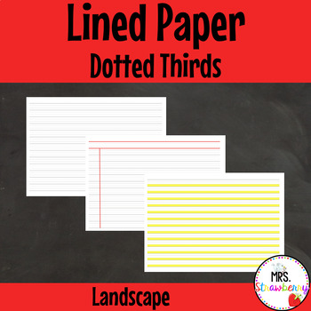 Dotted Thirds Plain, Ruled, Bottom Third Highlighted - Lan
