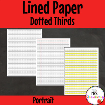 Dotted Thirds Plain, Ruled, Bottom Third Highlighted - Por