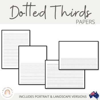 Dotted Thirds Papers: Portrait & Landscape