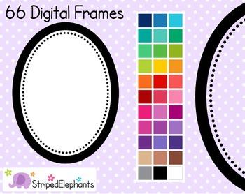 Dotty Oval Digital Frames