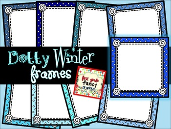 Dotty Winter Frames {for Commercial and/or Personal Use}