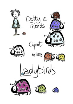 Dotty and Friends Ladybirds Clipart