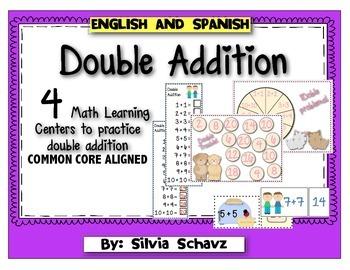 Double Addition Math Centers by Silvia Schavz   Teachers Pay Teachers