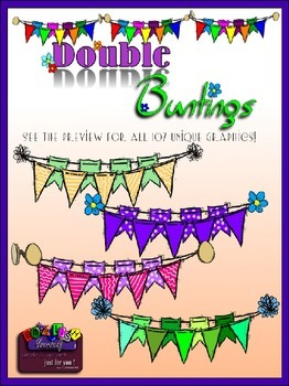 Double Buntings Clipart *Bargain Priced* (Embellish Yourse