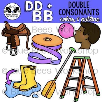 Double Consonants Clip Art - DD & BB
