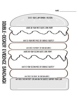 Double Decker Evidence Sandwich