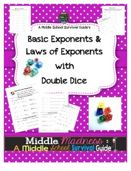 Exponent Practice with Double Dice