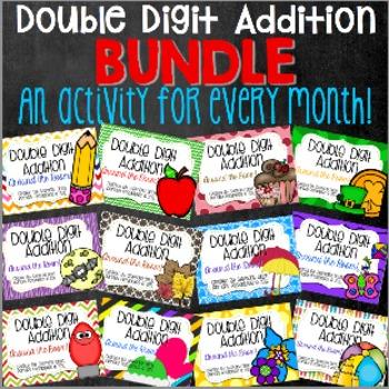 Double Digit Addition Activity Bundle