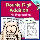 Double Digit Addition - No Regrouping - (Worksheets for 2