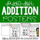 Double Digit Addition Posters {with and without regrouping}