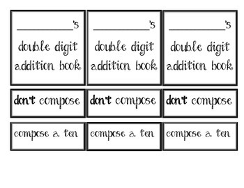 Double Digit Addition Sort (compose a ten or not)