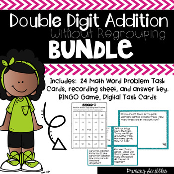 Double Digit Addition Without Regrouping ***BUNDLE***
