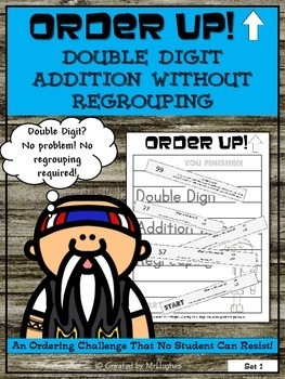 Double Digit Addition Without Regrouping - Order Up!