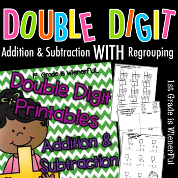 Double Digit Addition and Subrtraction Printables~  WITH r